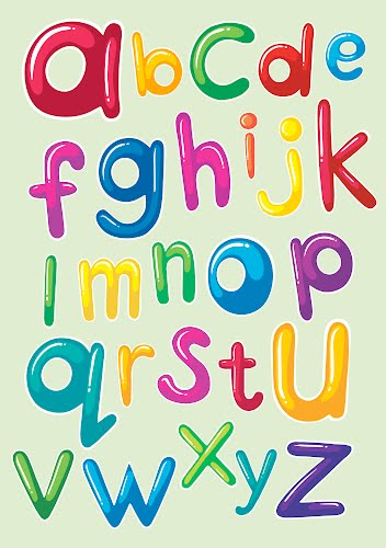 colorful alphabet for kids poster collective