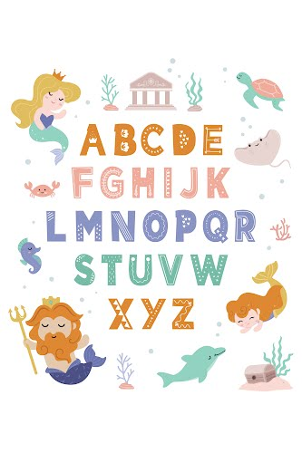 alphabet for kids poster collective