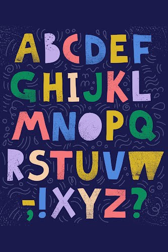 blue colorful alphabet poster collective