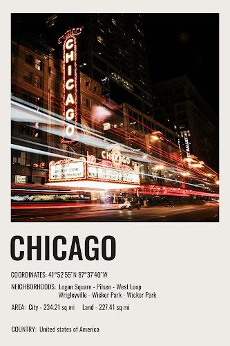 chicago vintage city poster collective