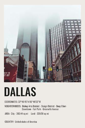 dallas vintage city poster collective