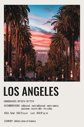 los angeles vintage city poster collective