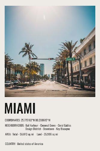 miami vintage city poster collective