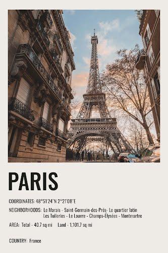 paris vintage city poster collective