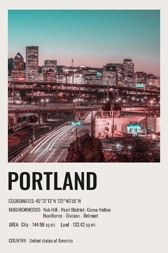 portland vintage city poster collective