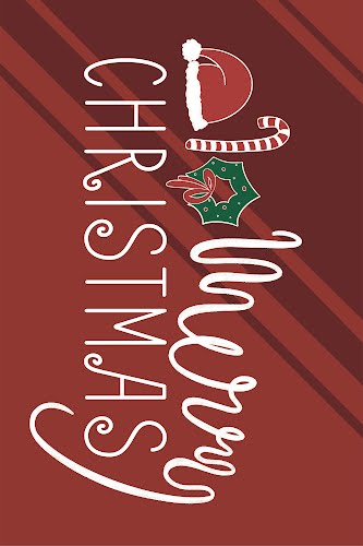merry christmas landscape poster collective