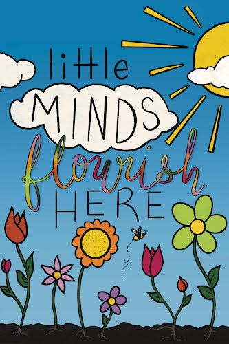 little minds flourish here poster collective