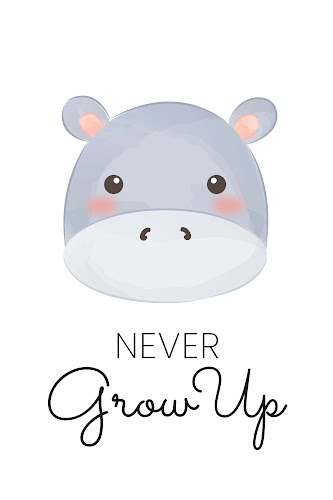 never grow up poster collective