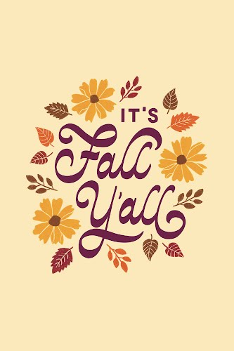 it's fall y'all poster collective