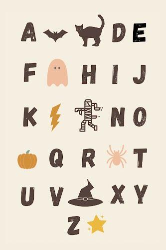 halloween alphabet poster collective