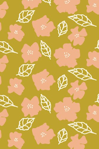 flowers pattern poster collective