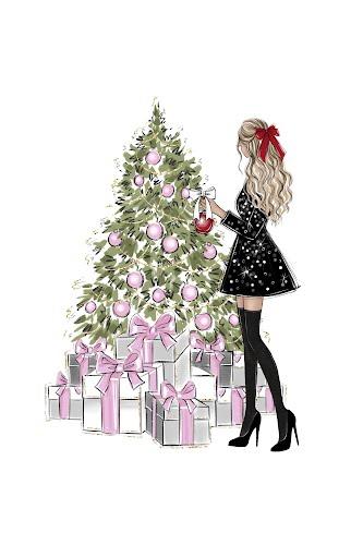 christmas tree poster collective