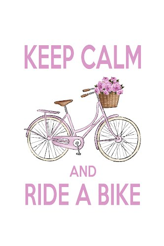 keep calm and ride a bike poster collective