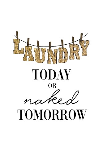 laundry today or naked tomorrow poster collective
