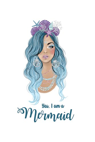 yes i'm a mermaid poster collective