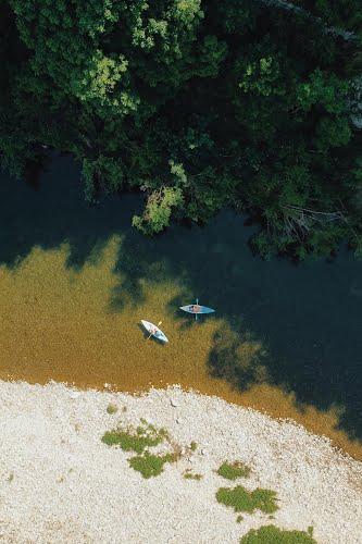canoes on lake