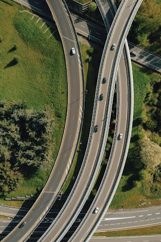 aerial view of roads poster collective