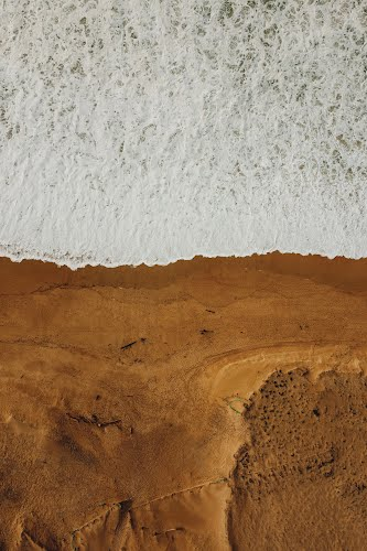 beach aerial photography poster collective