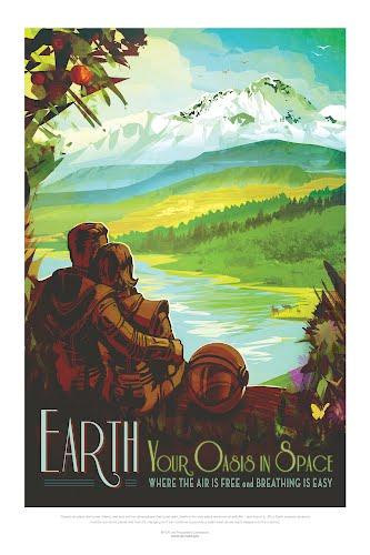earth nasa poster collective