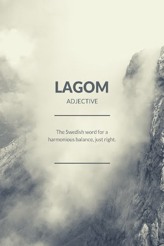 lagom word definition poster collective