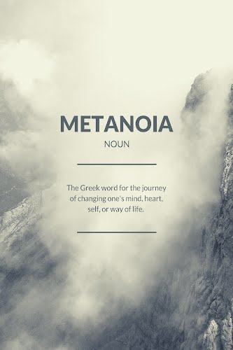 metanoia word definition poster collective