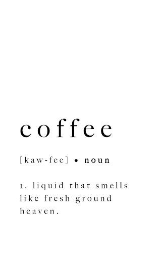 coffee word definition poster collective