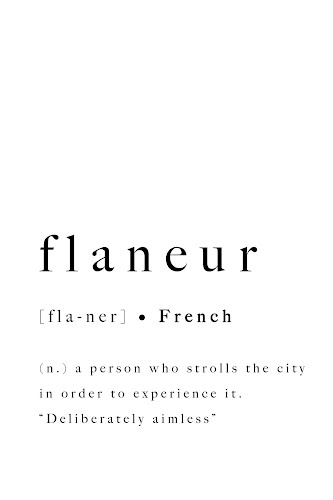 flâneur word definition poster collective