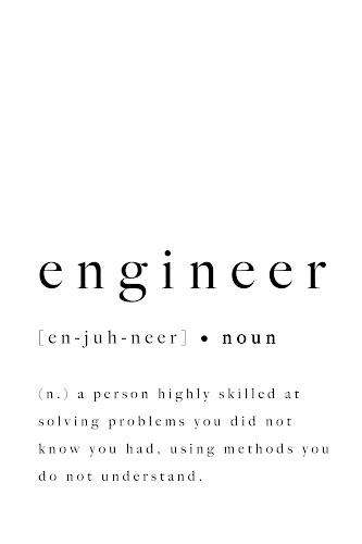 engineer word definition poster collective
