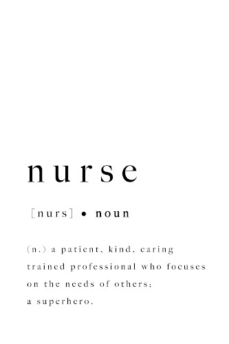nurse word definition poster collective