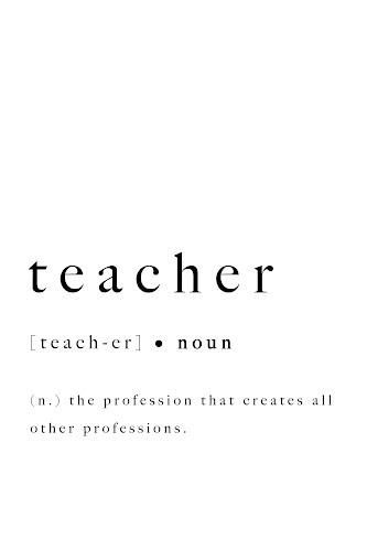 teacher word definition poster collective